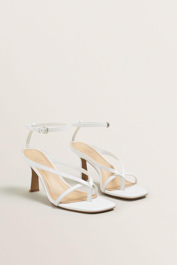 Jules Heeled Sandal  WHITE  hi-res