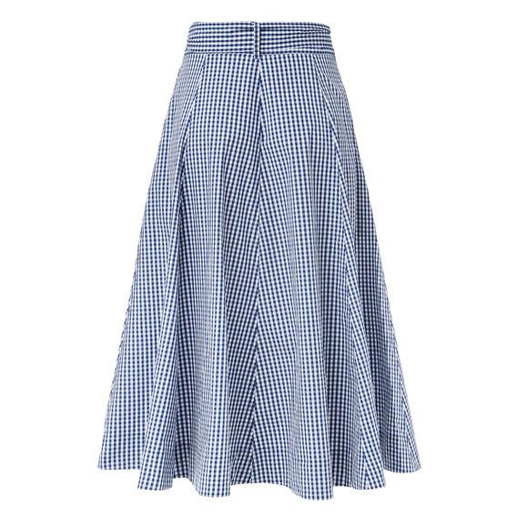 Gingham Full Skirt  BLUE WATER GINGHAM  hi-res