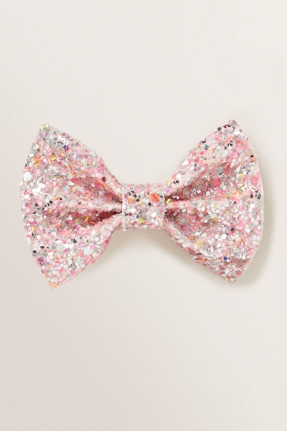 Glitter Bow Duck Clip  PINK  hi-res