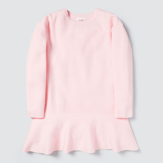 Double Knit Dress  ICE PINK MARLE  hi-res