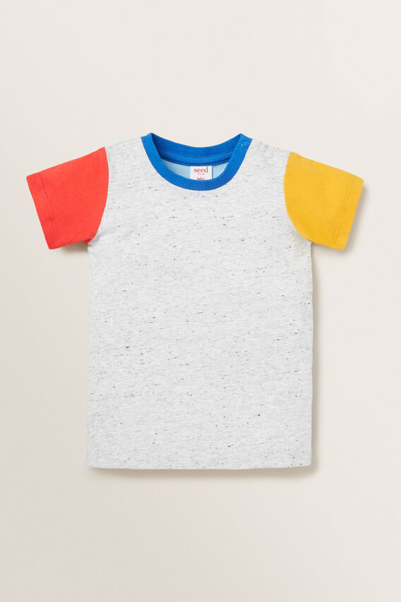 Colour Block Tee  MULTI  hi-res
