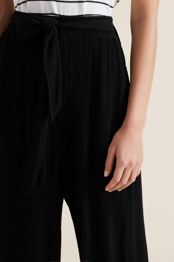 Crinkle Tie Up Pant  BLACK  hi-res