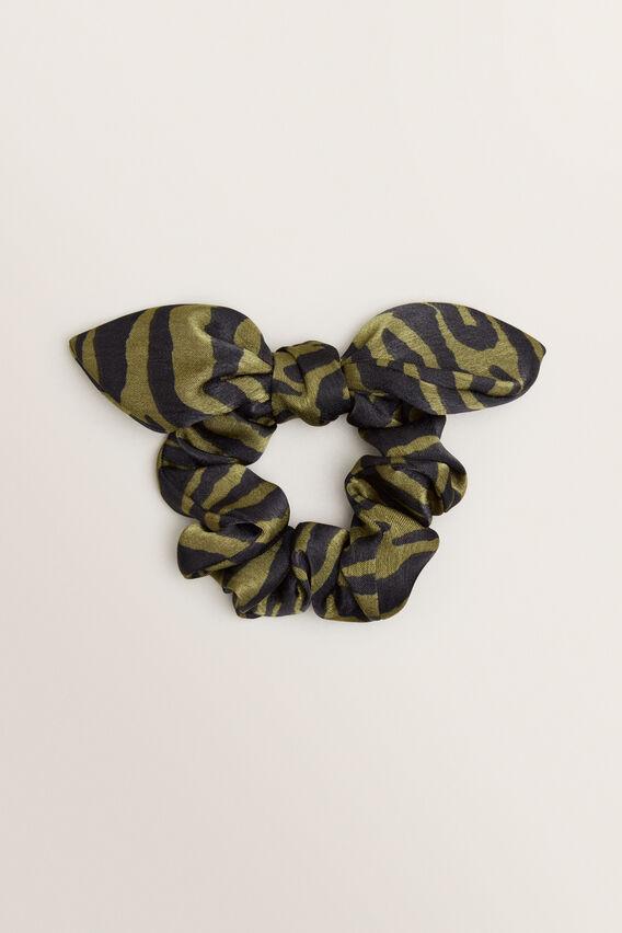 Bow Scrunchie  CEDAR GREEN  hi-res