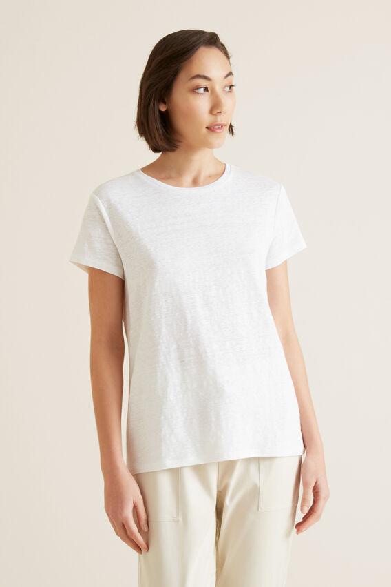 Linen Easy Tee  WHISPER WHITE  hi-res
