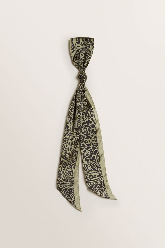 Thin Neck Scarf  WASHED OLIVE  hi-res