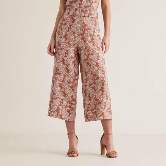 Belted Trouser  WASHED APRICOT PAISL  hi-res