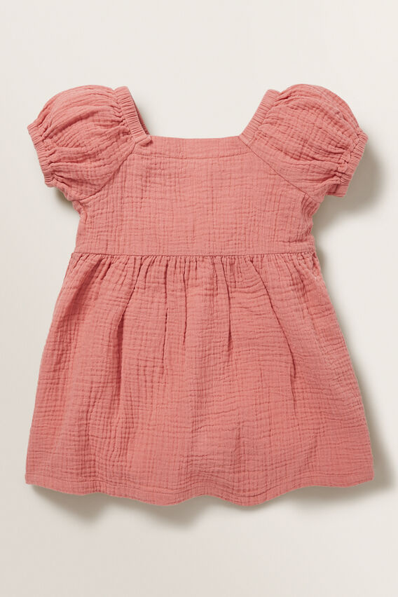 Cheesecloth Button Dress  TANGERINE  hi-res