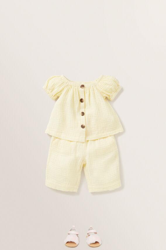 Cheesecloth Culottes  LEMON  hi-res
