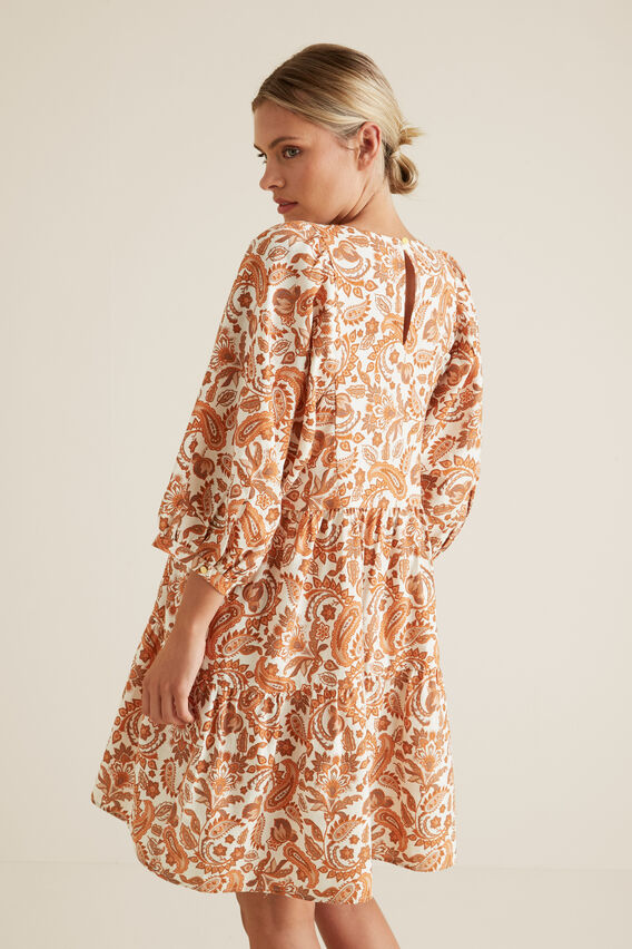 Paisley Gathered Dress  PAISLEY  hi-res