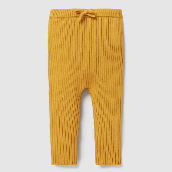 Knitted Rib Pant  GOLDEN MUSTARD  hi-res