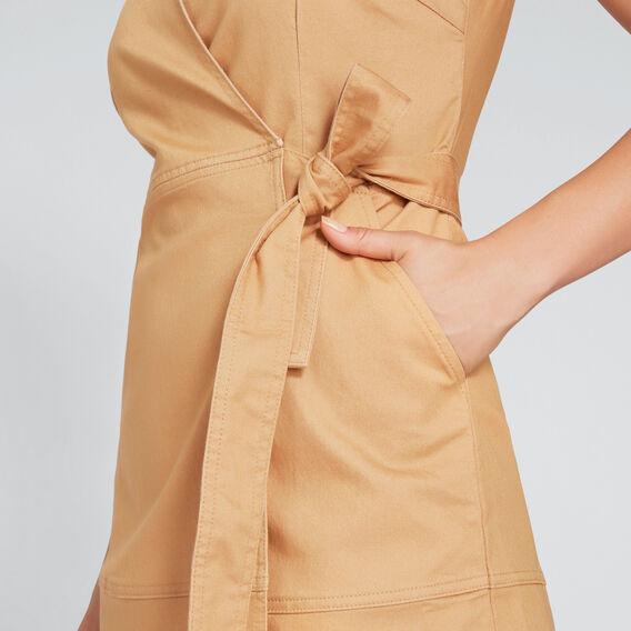 Sleeveless Wrap Dress  GOLDEN TAN  hi-res