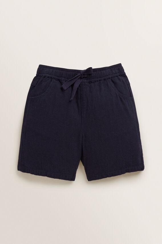 Linen Blend Short  MIDNIGHT BLUE  hi-res