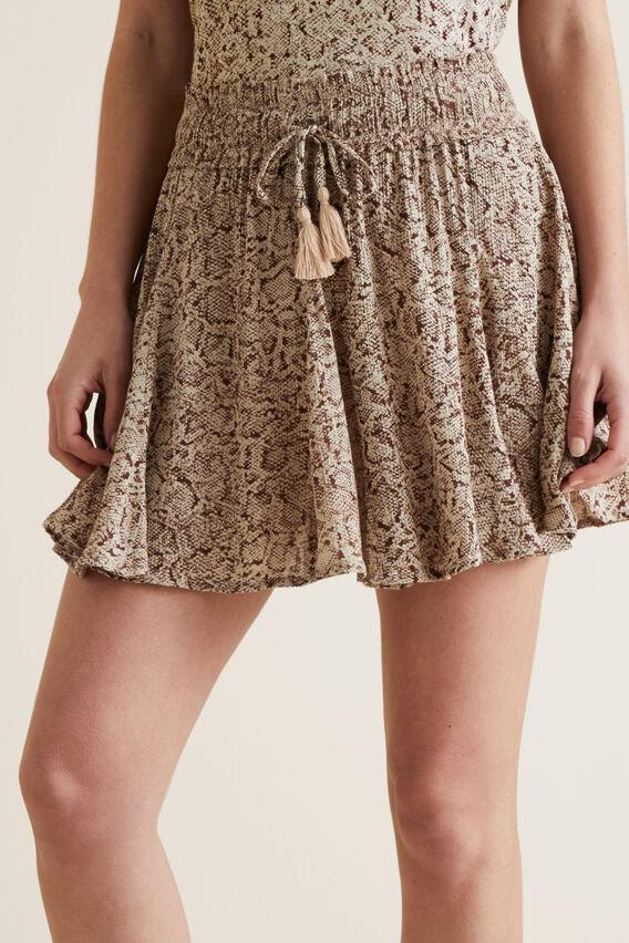 Python Mini Skirt  SNAKE PRINT  hi-res