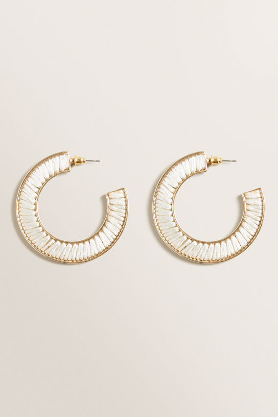 Thread Wrapped Hoops  CREAM  hi-res