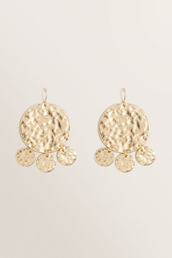 Coin Disc Earring  GOLD  hi-res