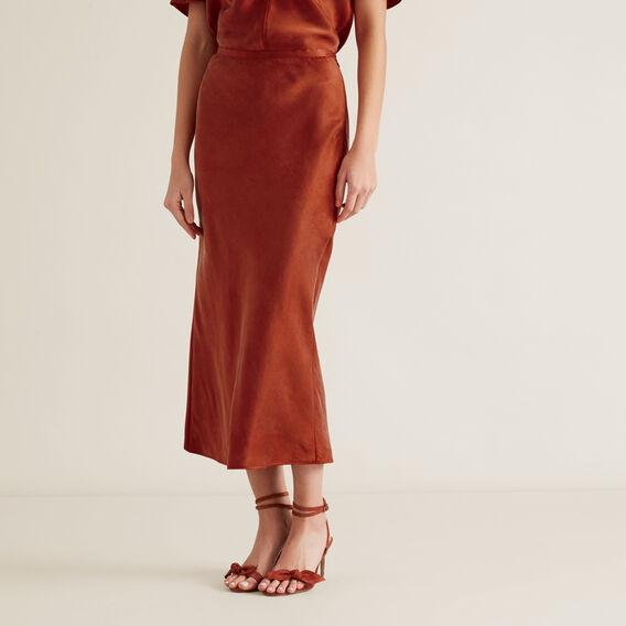Midi Skirt  RED VELVET  hi-res