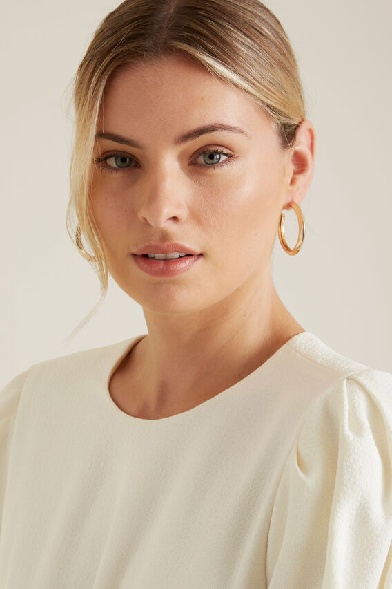 Thick Gold Hoops  GOLD  hi-res