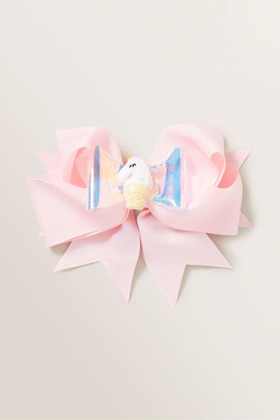 Unicorn Ice Cream Bow Duck Clip  PINK  hi-res