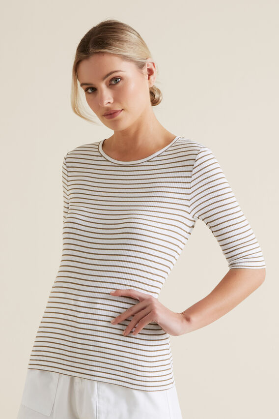 Stripey Tee  RICH MOSS STRIPE  hi-res