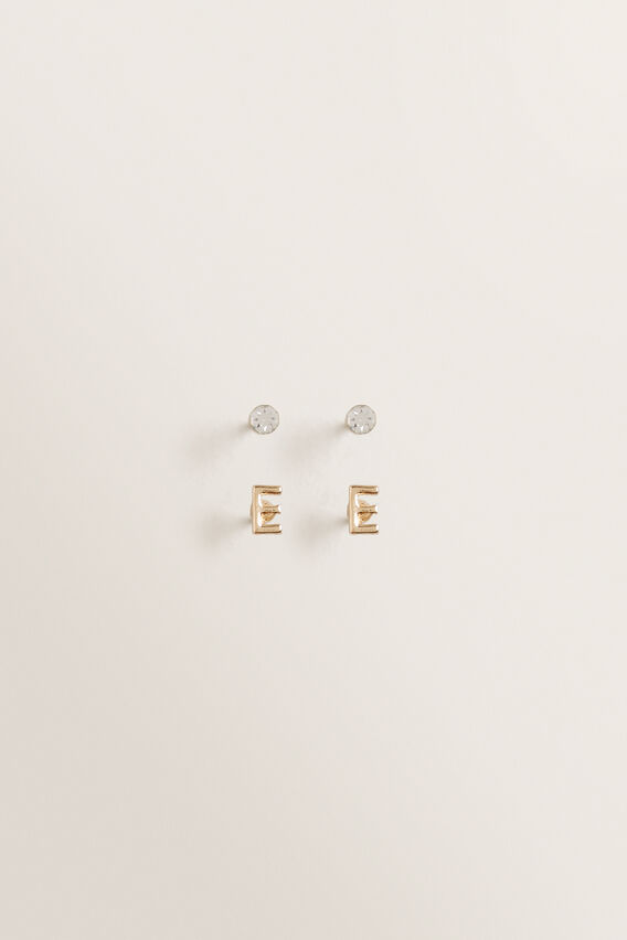 Initial Earring Pack  E  hi-res