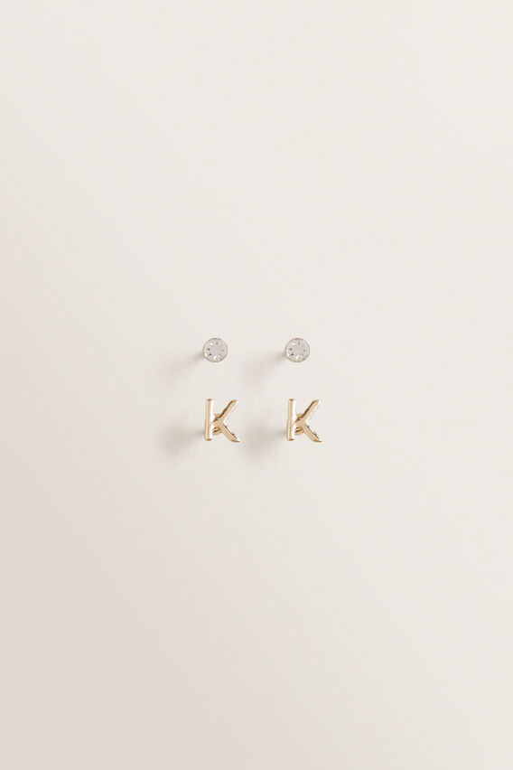 Initial Earring Pack  K  hi-res