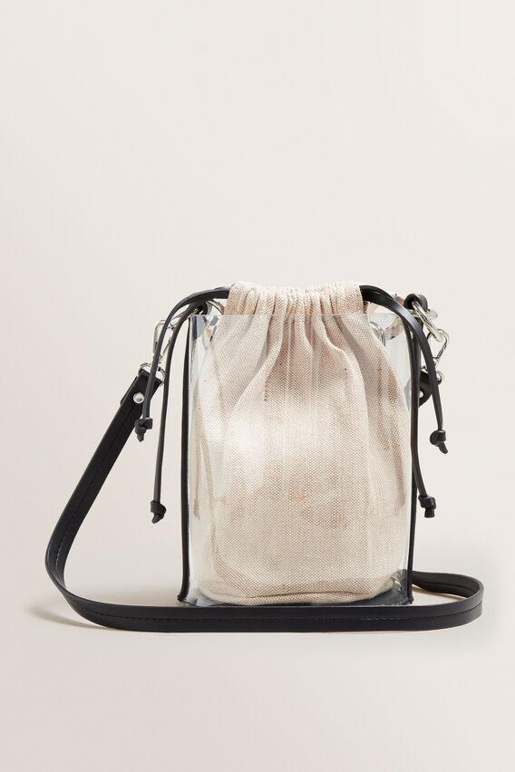 Transparent Bucket Bag  BLACK/CREAM  hi-res