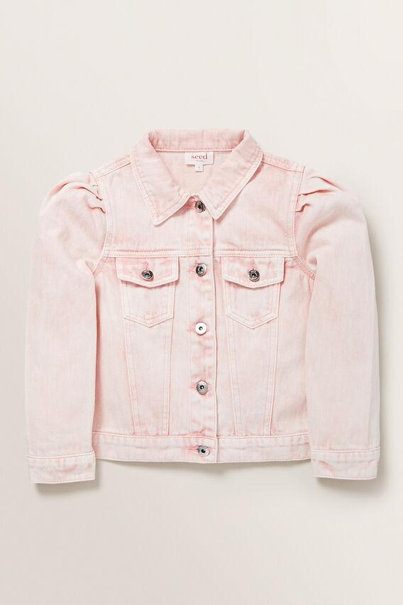 Pleat Denim Jacket  ROSE ACID WASH  hi-res
