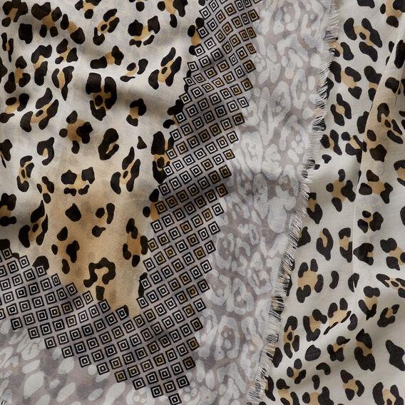 Leopard Aztec Scarf  MULTI  hi-res