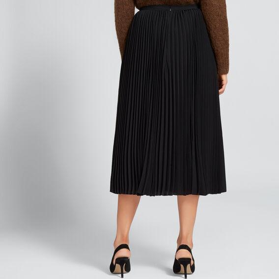 Classic Pleat Skirt  BLACK  hi-res