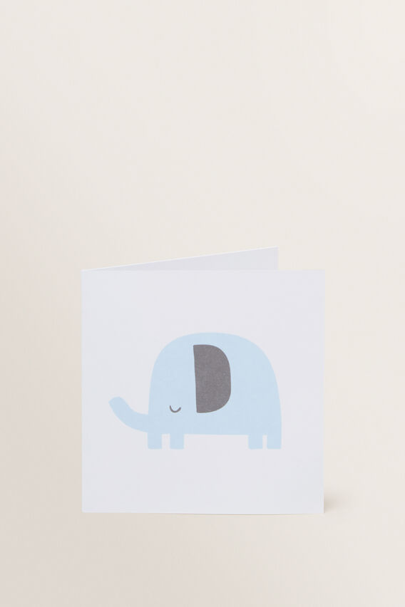 Small Elephant Card  MULTI  hi-res