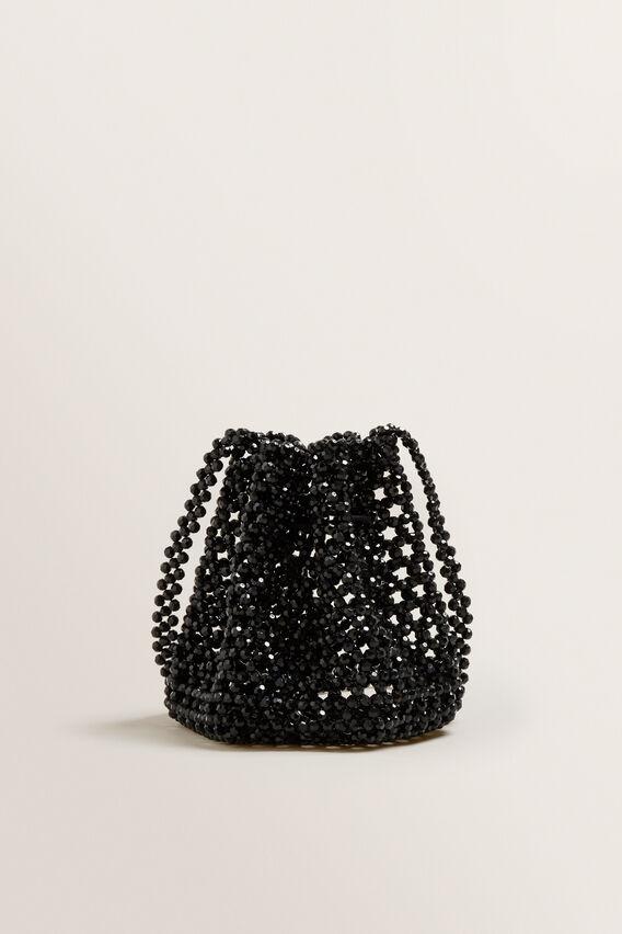 Beaded Bucket Bag  BLACK  hi-res