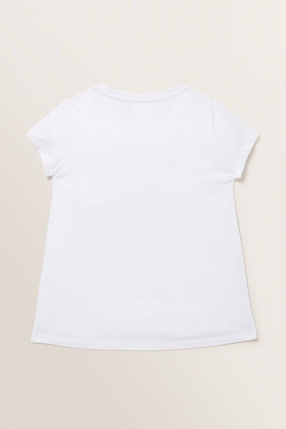 Sequin Lucky Cat Tee  WHITE  hi-res