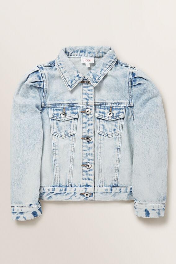 Pleat Denim Jacket  BLUE ACID WASH  hi-res