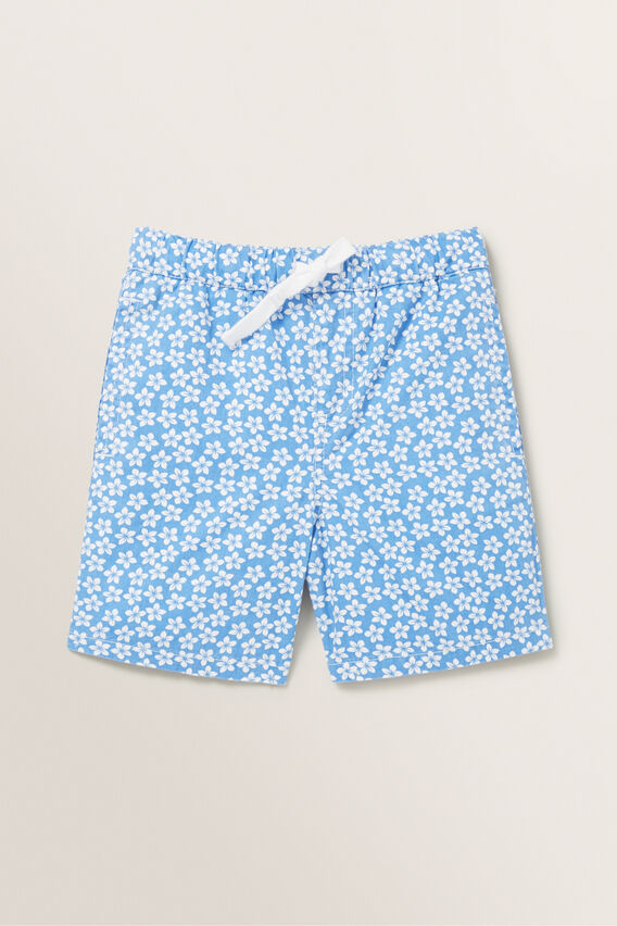 Mini Floral Short  CORNFLOWER BLUE  hi-res