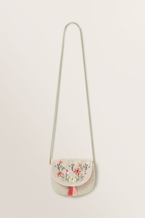 Embroidered Flap Purse  MULTI  hi-res