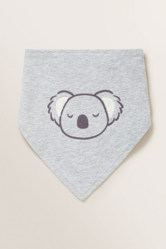 Koala Bandana Bib  BIRCH MARLE  hi-res