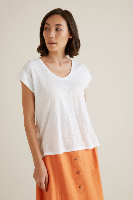 Easy Slub Tee  WHISPER WHITE  hi-res