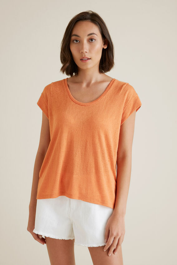 Easy Slub Tee  SOFT CORAL  hi-res