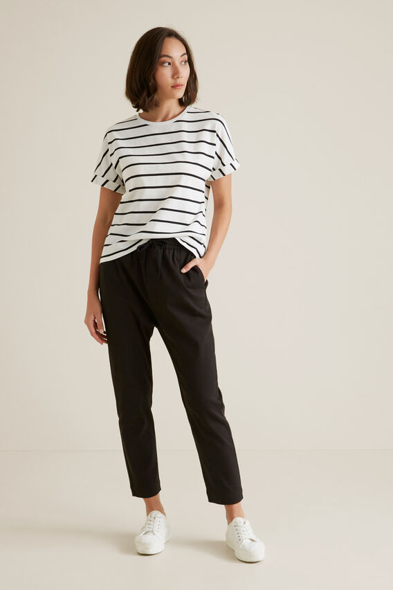 Jacquard Top  BLACK STRIPE  hi-res