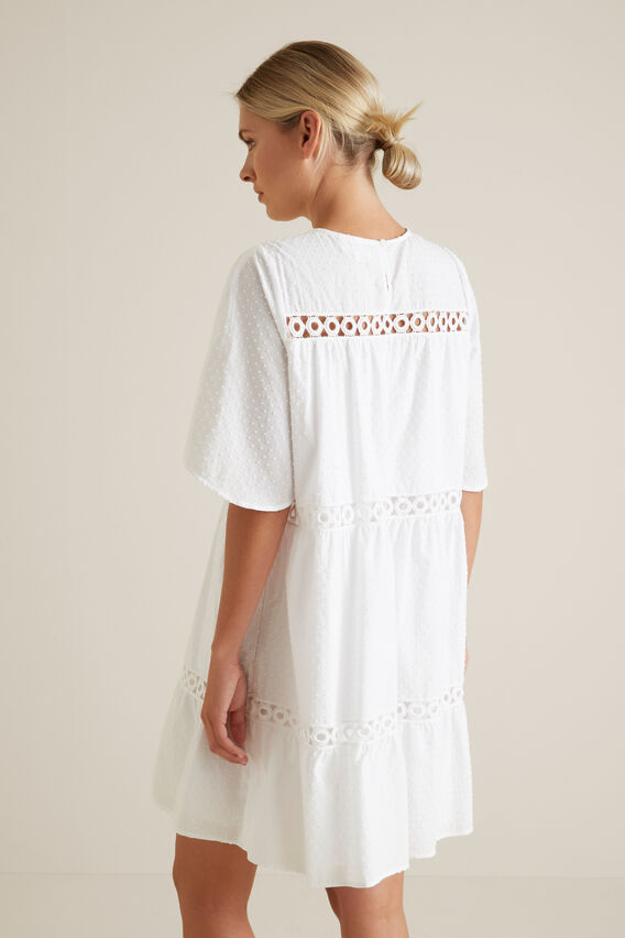 Ladder Trim Dobby Dress  WHISPER WHITE  hi-res
