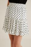 Crinkle Spot Mini Skirt, SPOT, hi-res