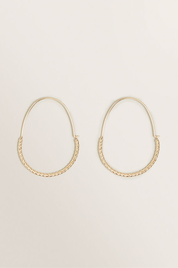 Rope Metal Hoops  GOLD  hi-res