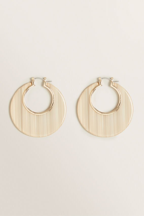 Round Disc Hoops  CREAM  hi-res