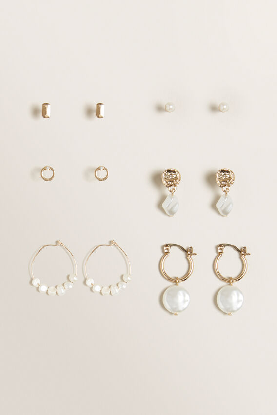 Pearl Stud Pack  GOLD  hi-res