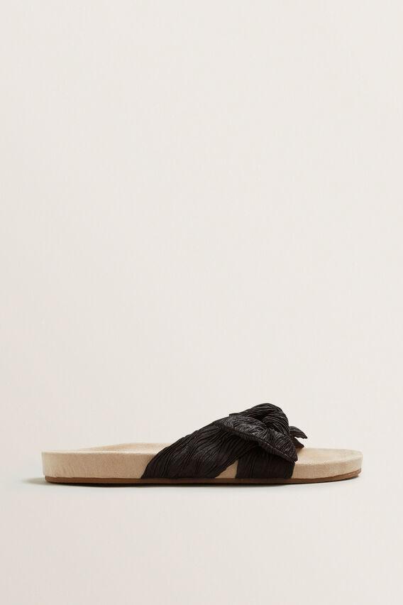 Amy Bow Slide  BLACK  hi-res