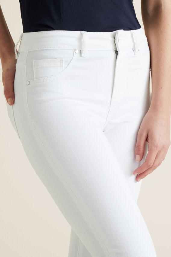 Mid-Rise Skinny Jean  WHITE  hi-res