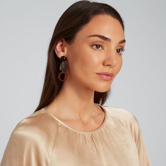 Contrast Drop Earrings  MULTI  hi-res