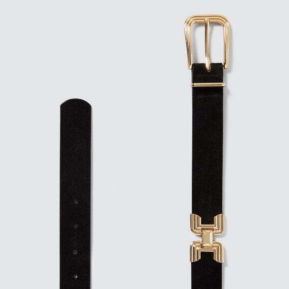 Deco Buckle Belt  BLACK  hi-res