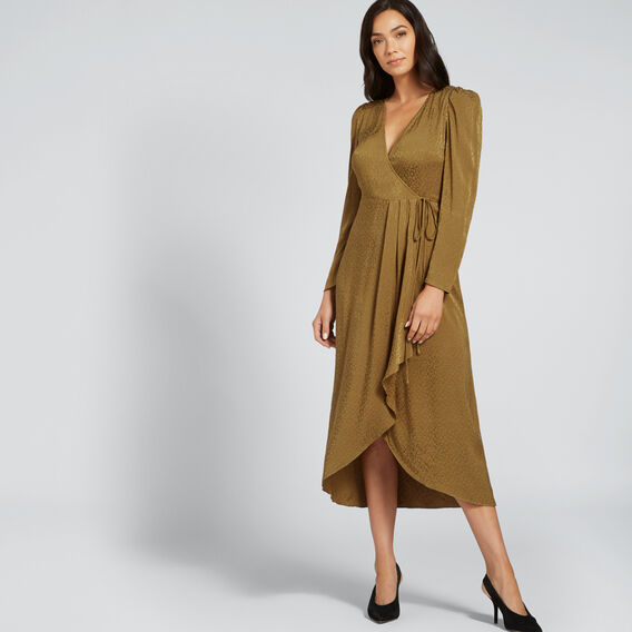 Animal Jacquard Dress  DARK KHAKI ANIMAL  hi-res