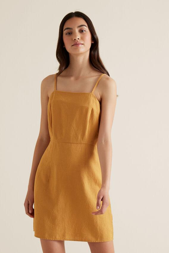Linen Blend Dress  HONEY  hi-res